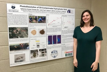 Katherine presenting at the department poster competition
