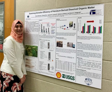 Rana presenting at the department poster competition